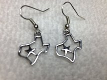 Texas Earrings State of Texas with Lone Star in Houston, Texas
