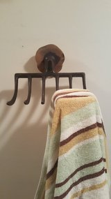 Jewelry/Towel Holder made from Vintage Rake in Joliet, Illinois