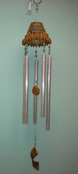 Amber & Turquoise Colored Wind Chime-Hand Made in Joliet, Illinois