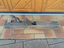 Old antique wooden hand plane decoration in Ramstein, Germany