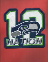 "SEATTLE SEAHAWKS 12th NATION IRON ON PATCH (7""x7"") *** NEW *** in Tacoma, Washington"