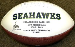 Seattle Seahawks - XLVIII Rawlings Full Size Engraved  NFL Football *** NEW *** in Fort Lewis, Washington