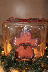 Gingerbread Lighted Glass Block in Lawton, Oklahoma