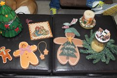 Various Gingerbread Christmas decorations in Lawton, Oklahoma