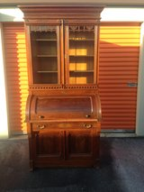 Antique Victorian Walnut Cylinder Bookcase in Cherry Point, North Carolina