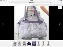 Coach Addison Signature Diaper Bag Multifunctional Tote Lilac F18376 in Chicago, Illinois