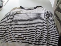 White & Black Striped Juniors Sweater/Small in Orland Park, Illinois