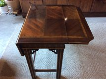 Wooden accent table in Joliet, Illinois
