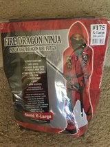 Fire dragon NINJA (XL) kids costume in Baytown, Texas