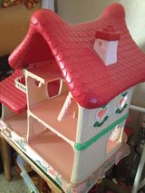 Vintage strawberry short cake house in Travis AFB, California