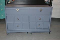 Dresser Gray solid wood dovetail drawers in Naperville, Illinois
