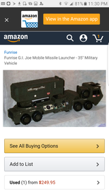 Funrise G.i. joe mobile missile launcher vehicle in Chicago, Illinois