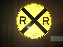 Rail Road Crossing Sign in Bolingbrook, Illinois