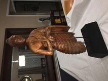 Hand carved Wooden Buddha in St. Charles, Illinois
