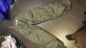 Old raf cold weather trousers in Lakenheath, UK