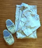 Baby Blue Bathrobe with Belt and Slippers in Okinawa, Japan