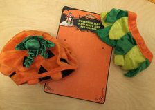 Pumpkin Hat and Ruffle Set Pet Costume in St. Charles, Illinois