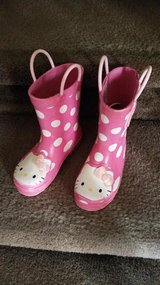 Polka Dot Hello Kitty Rain / Snow Boots in Fort Campbell, Kentucky