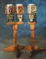 Double Head Candy Vending Machine w/Wood Stand in Naperville, Illinois