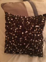 Small Sequined Throw Pillow -Mocha Brown in Plainfield, Illinois