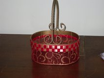 gold/red wire basket in Bolingbrook, Illinois