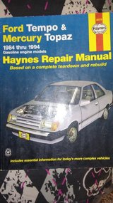 Haynes Ford Tempo and Mercury Topaz Repair Manual in Alamogordo, New Mexico