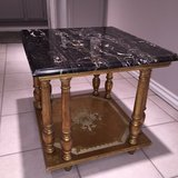 Table: Black Marble Made in Italy in Bolingbrook, Illinois