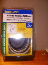 BrassCraft 2-Pack 6-ft Stainless Steel Washing Machine Hoses NIB in Fort Campbell, Kentucky