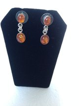 New! Sterling Silver 925 Amber Earrings in Clarksville, Tennessee