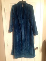 Plush Teal Robe with Belt in Fort Riley, Kansas
