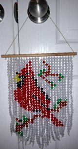 Handmade Beaded Cardinal Suncatcher in Byron, Georgia