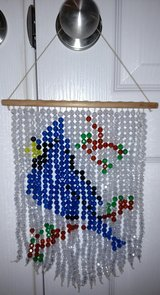 Handmade Beaded Bluejay Suncatcher in Byron, Georgia