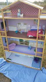 Wood / 4 Level / 5 ft. Tall / Furnished Doll House in Fort Campbell, Kentucky