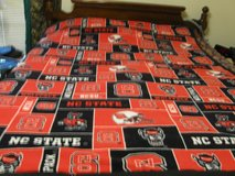 Homemade NC State fleece throw 3 left. in Fort Bragg, North Carolina