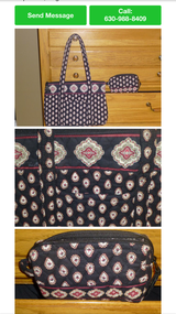 Vera Bradley Shoulder Bag/ Cosmetic case in Naperville, Illinois
