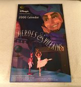 2000 Disney Heroes & Villains Calendar in Plainfield, Illinois