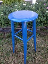 Pretty blue stool in Perry, Georgia
