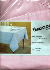 BRAND NEW Fabric Tablecloths Made in America by Famous Mills in Ass't. Sizes & Colors in Wilmington, North Carolina