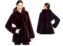 Dennis Basso Faux Fur Zip Front Coat with Hood in Fort Lewis, Washington