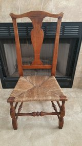 American 18th Century Antique Side Chair with Rush Seat in Orland Park, Illinois