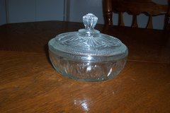 Avon glass bowl and lid in Conroe, Texas