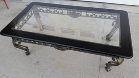 Ashley / Black / Iron Glass Coffee Table in Fort Campbell, Kentucky