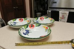 """3 """"Made In Italy"""" Pasta Bowls - Gently Used. in Kingwood, Texas"""