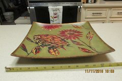 """Stunning Signed Work Of Art Platter - By """"Hope Smith"""" in Houston, Texas"""
