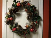"""21"""" Red Apples Christmas Wreath in Eglin AFB, Florida"""
