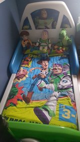 Toy story toddler bed with matress and conforter set in Quantico, Virginia