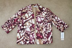 New Alfred Dunner Abstract Print Open Front Jacket, size 12 petite in Palatine, Illinois