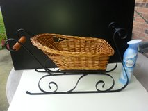 Doll Size Wicker & Metal Sleigh - NEW! in Naperville, Illinois