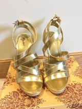 Women's size 5.5 shoes gold in Okinawa, Japan