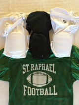 Youth Football Pants (Black, White) & Practice Jersey in Naperville, Illinois